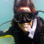 A perfect underwater smile from Solene during her PADI Open Water Diver course in El Nido, Palawan.