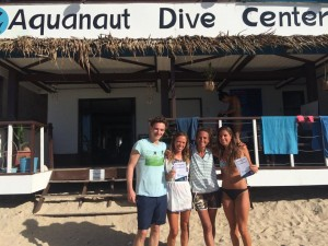 At the end of a perfect PADI Discover Scuba Diving day