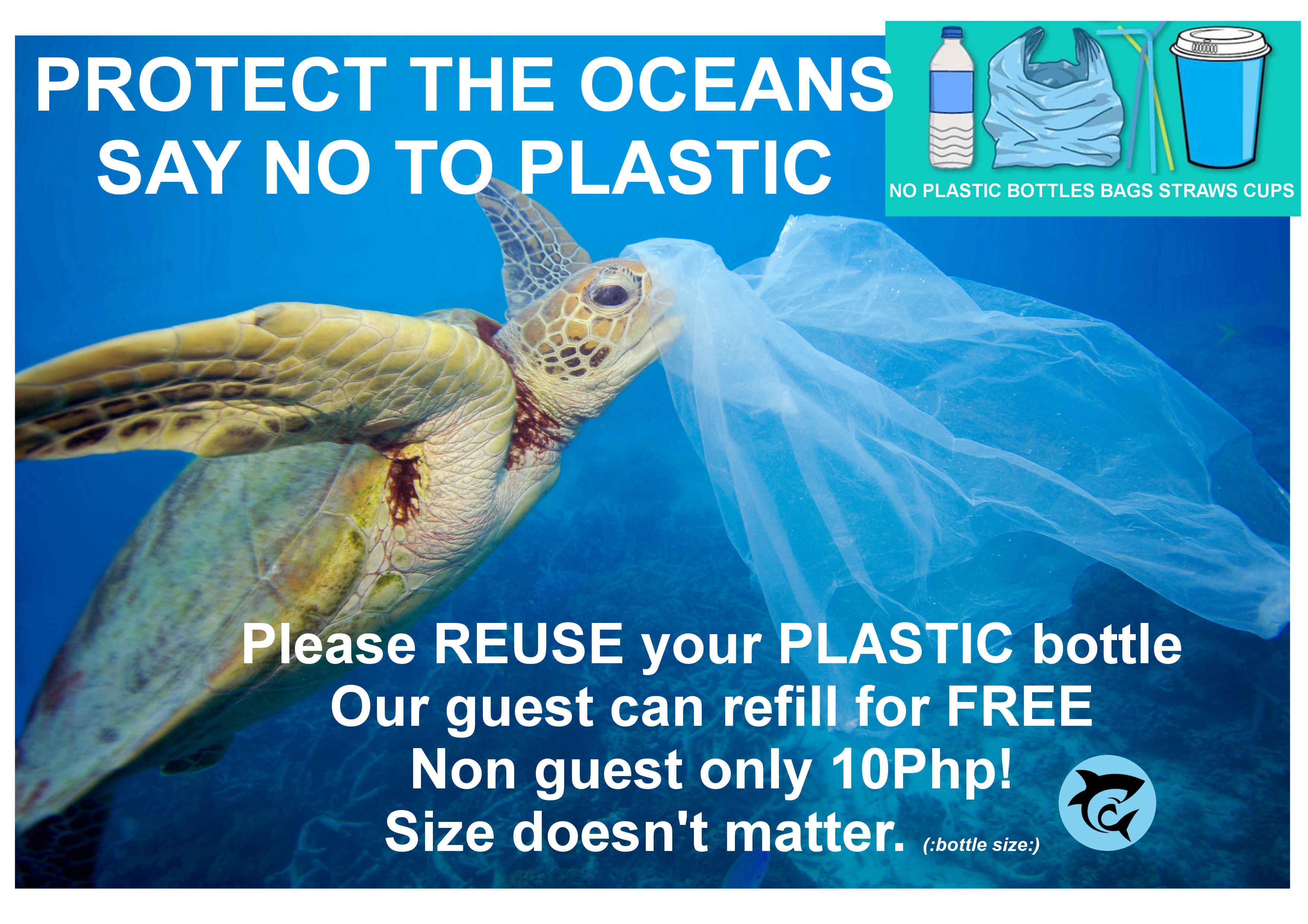 NO PLASTIC PROTECT OCEANS