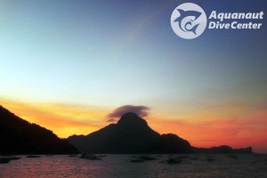 Sunset over Cadlao Island